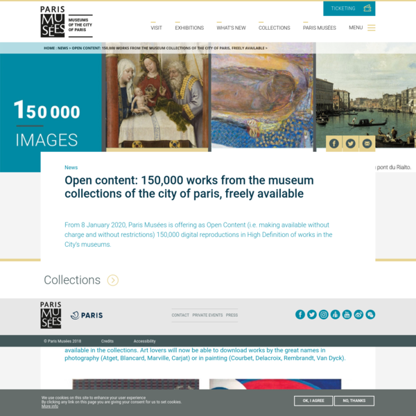 Open content: 150,000 works from the museum collections of the city of paris, freely available