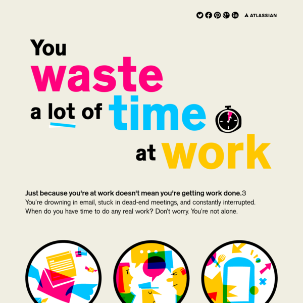 You Waste A Lot of Time at Work Infographic | Atlassian