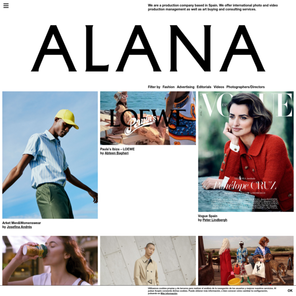 Alana - We are a boutique production company based in Spain.