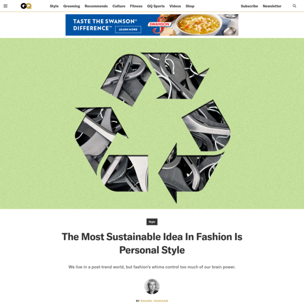 The Most Sustainable Idea In Fashion Is Personal Style