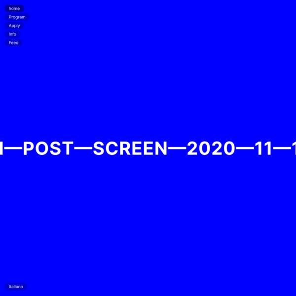 Post-Screen 2020