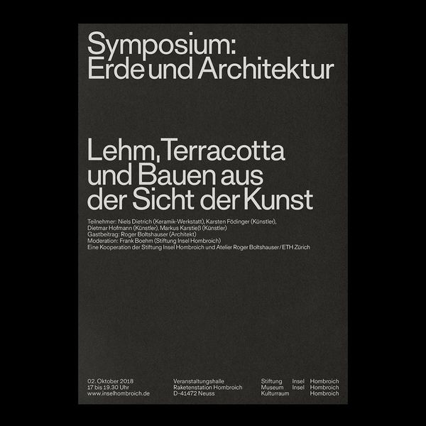 HM-052-020 Stiftung Insel Hombroich, ETH Zurich. Poster and collateral for an architectural symposium held by Atelier Roger ...