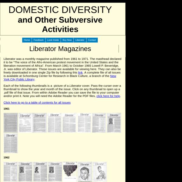 Domestic Diversity - Contact