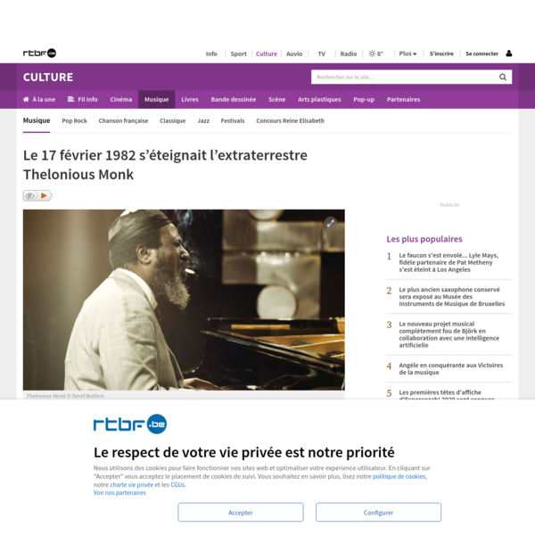 Le 17 février 1982 s'éteignait l'extraterrestre Thelonious Monk
