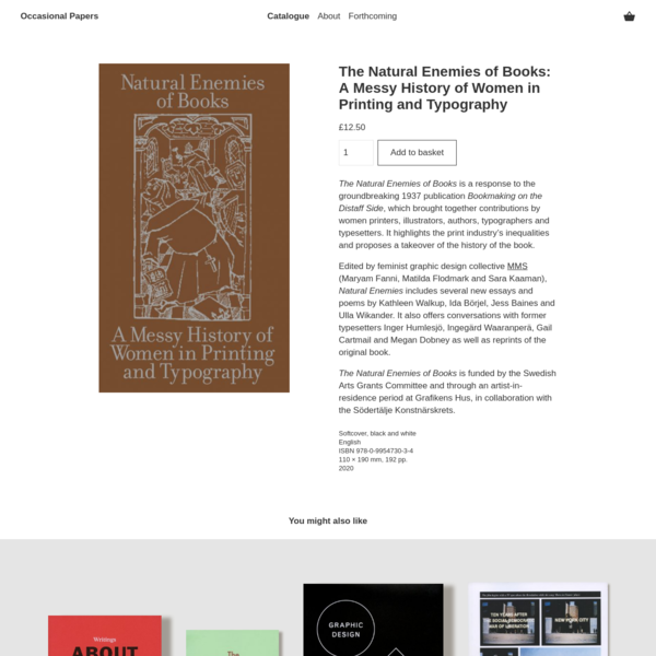 The Natural Enemies of Books: A Messy History of Women in Printing and Typography - Occasional Papers