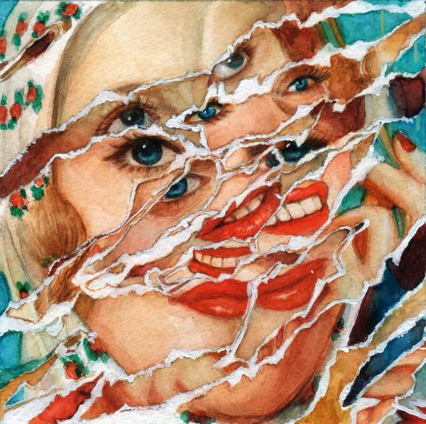 untitled (torn portraits)