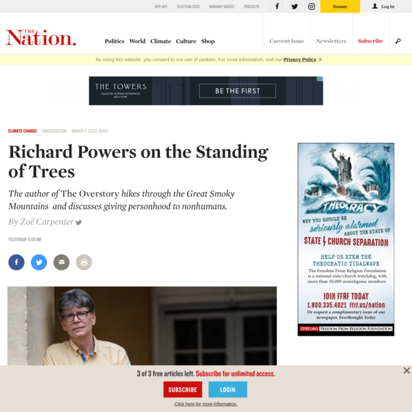 Richard Powers on the Standing of Trees