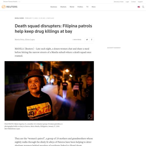 Death squad disrupters: Filipina patrols help keep drug killings at bay