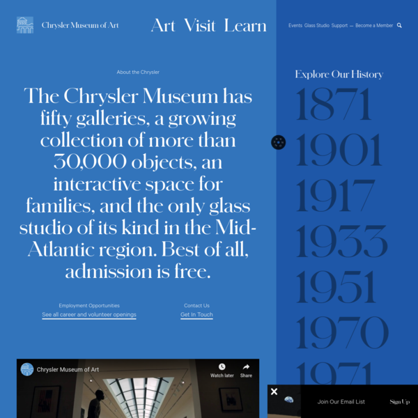 About | Free Admission Art Museum | Chrysler Museum of Art