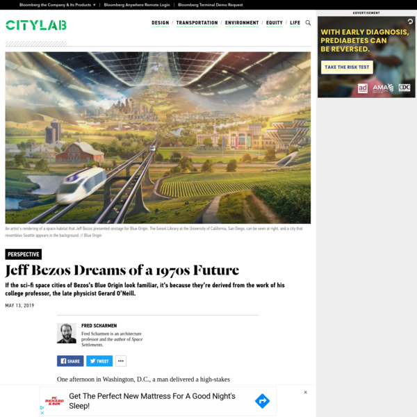 With Plans for Cities in Space, Jeff Bezos Looks Back to the Future