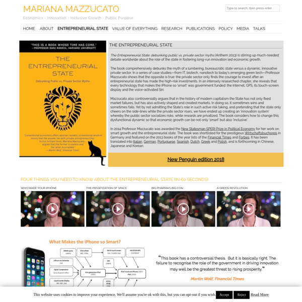 Entrepreneurial State | Mariana Mazzucato