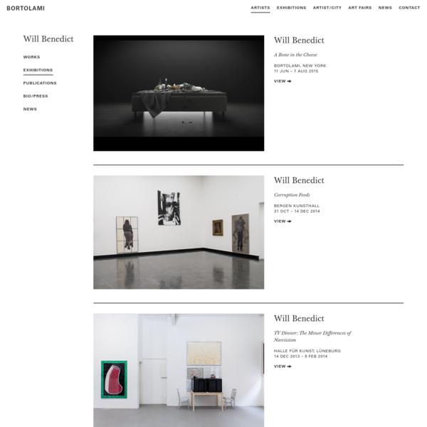 Will Benedict | Bortolami Gallery