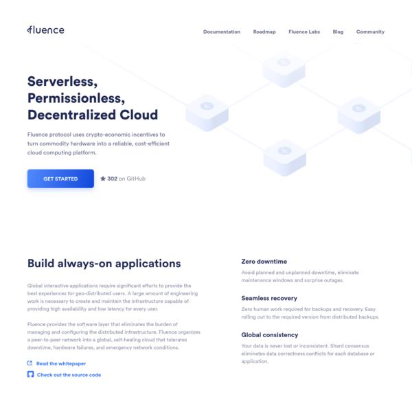 Fluence Network - an open-source, decentralized cloud computing platform