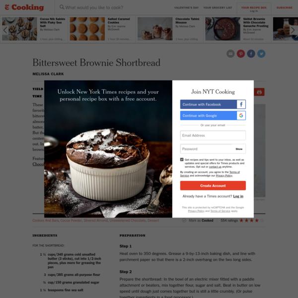 Bittersweet Brownie Shortbread Recipe