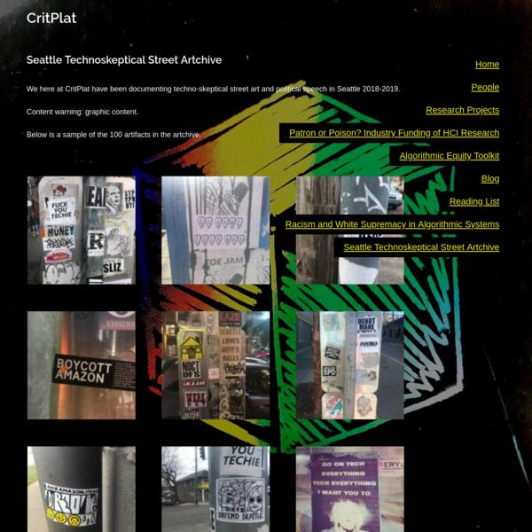 Seattle Technoskeptical Street Artchive