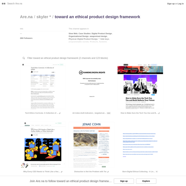 Are.na / toward an ethical product design framework