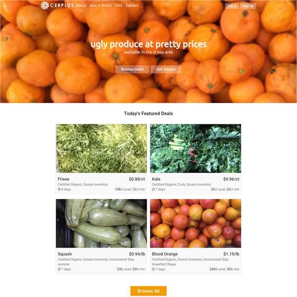 Cerplus - A marketplace for surplus produce.