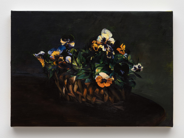 2020.02 Sam McKinniss: Jonathan Taylor Thomas, Pansies in a Basket (after Fantin-Latour), 2019