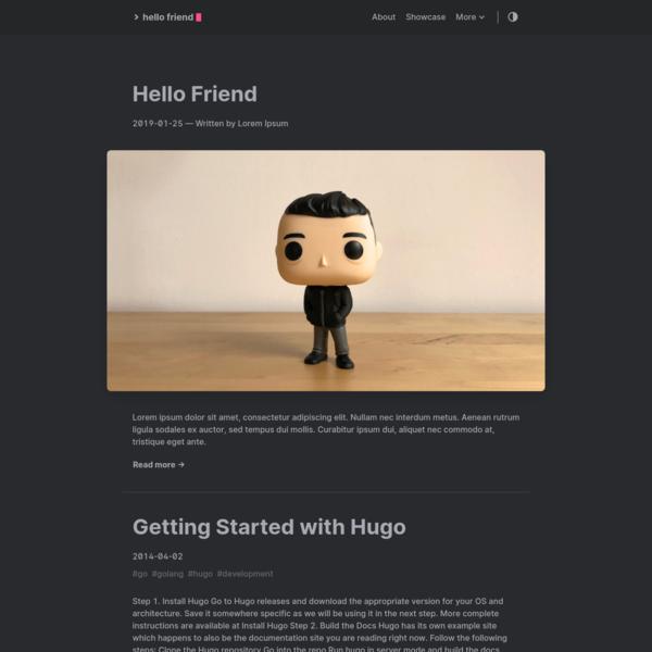Hello Friend - A simple theme for Hugo