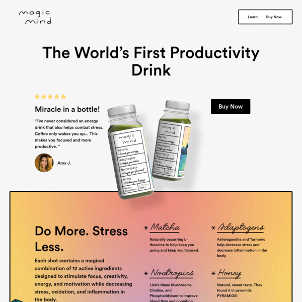 Magic Mind | The World's First Productivity Drink