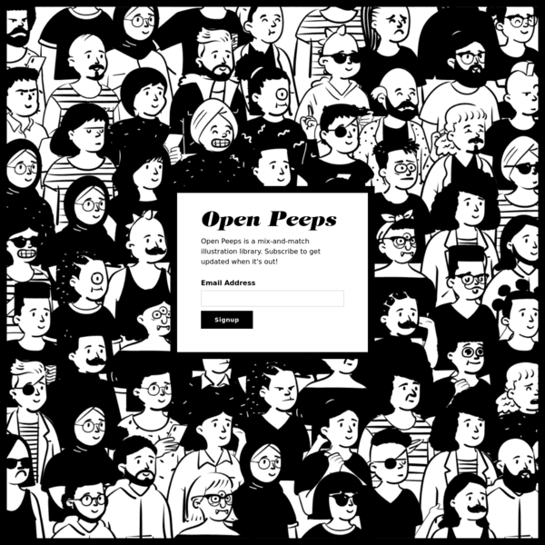 Open Peeps, Hand-Drawn Mix-And-Match Illustration Library 🎨