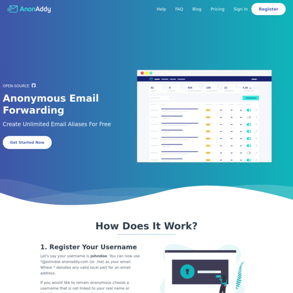Free, Open-source Anonymous Email Forwarding | AnonAddy