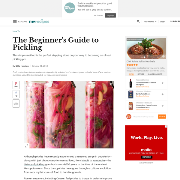 The Beginner's Guide to Pickling