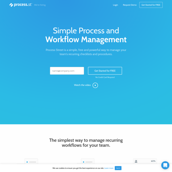 Process Street | Checklist, Workflow and SOP Software
