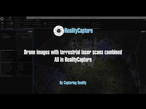 How to merge drone images with terrestrial laser scans inside of RealityCapture.