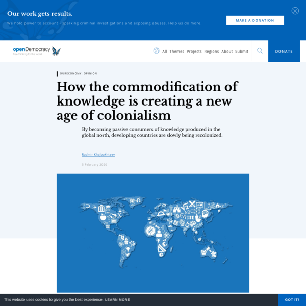 How the commodification of knowledge is creating a new age of colonialism