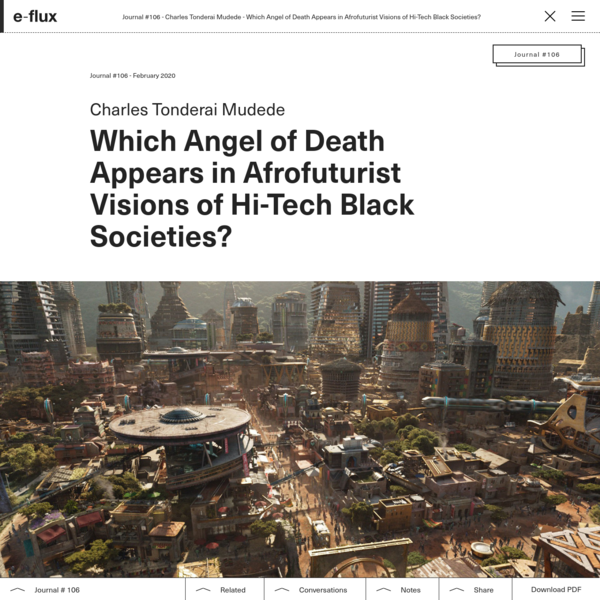 Which Angel of Death Appears in Afrofuturist Visions of Hi-Tech Black Societies?