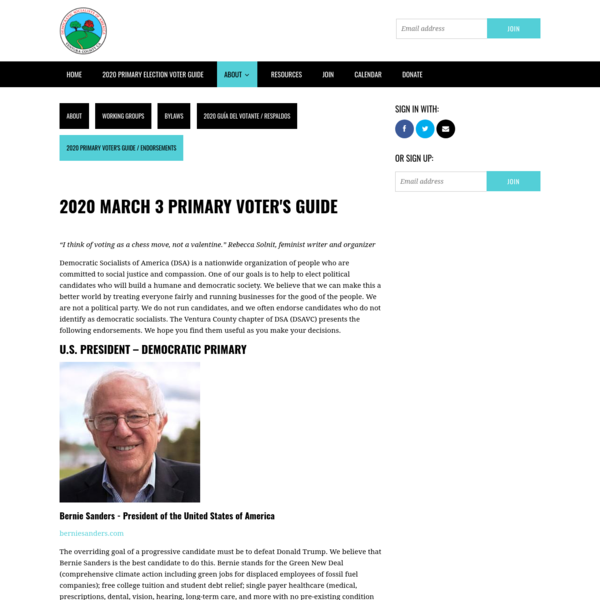 2020 March 3 Primary Voter's Guide