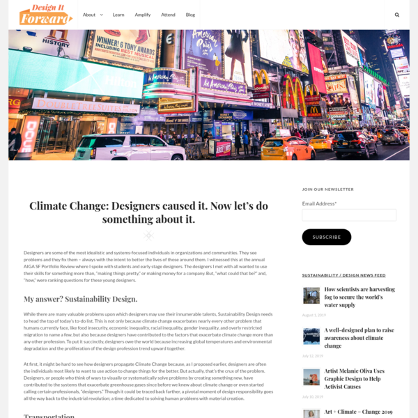 Climate Change: Designers caused it. Now let's do something about it.