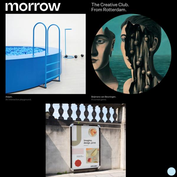 Morrow, the creative club based in Rotterdam.