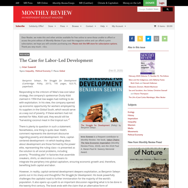 Monthly Review | The Case for Labor-Led Development