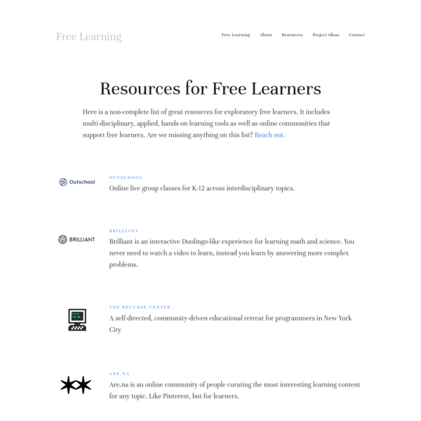 Resources - Free Learning