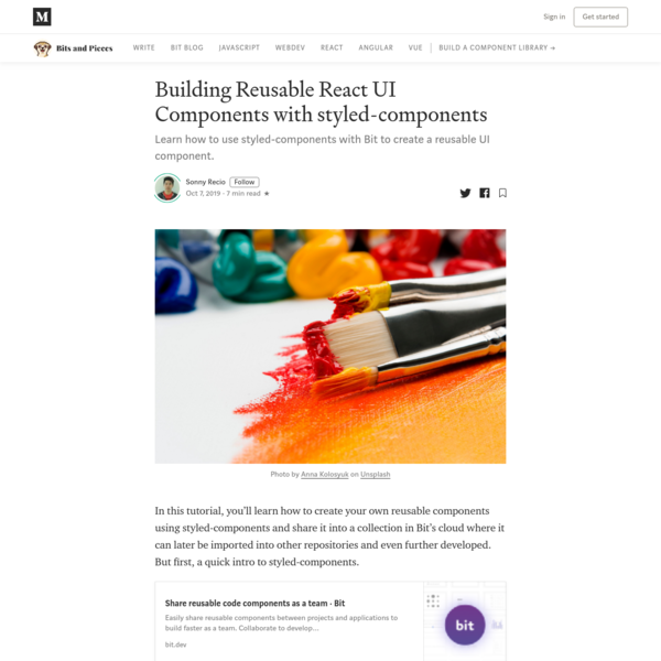 Building Reusable React UI Components with styled-components