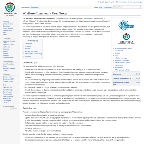 Wikibase Community User Group