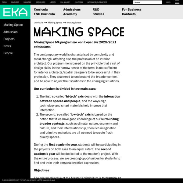 Making Space - Estonian Academy of Arts