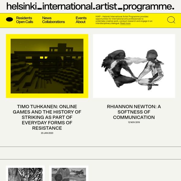 HIAP | Helsinki International Artist Programme