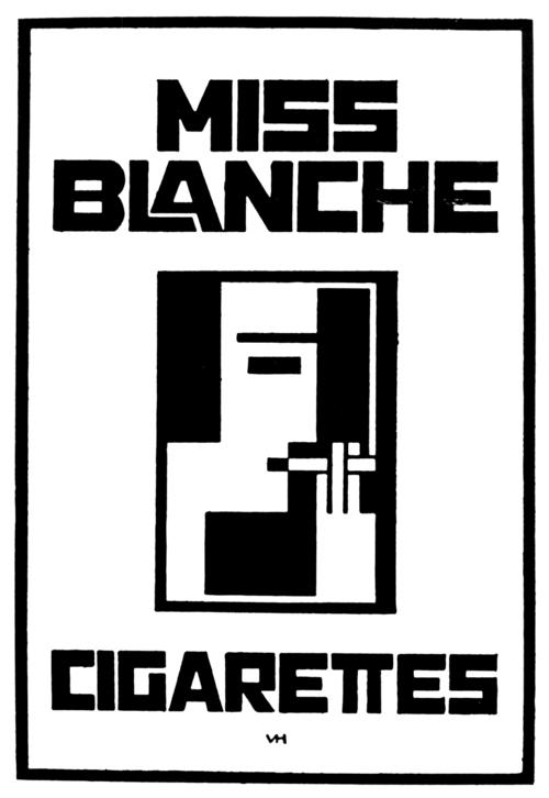 Vilmos Huszár, Miss Blanche Cigarettes (1926), logo
