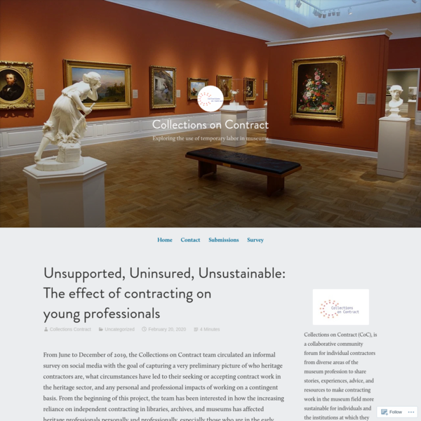 Unsupported, Uninsured, Unsustainable: The effect of contracting on young professionals