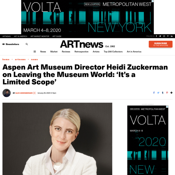 Heidi Zuckerman, Former Aspen Art Museum Director, Founds Platform – ARTnews.com