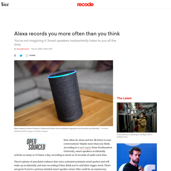Alexa records you more often than you think