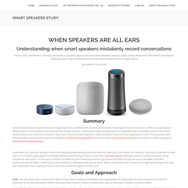 Smart Speakers Study