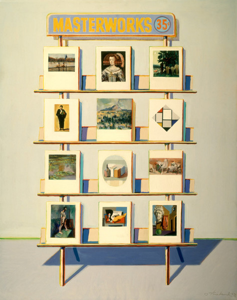 Wayne Thiebaud, 35 Cents Masterworks, 1970–72, oil on canvas