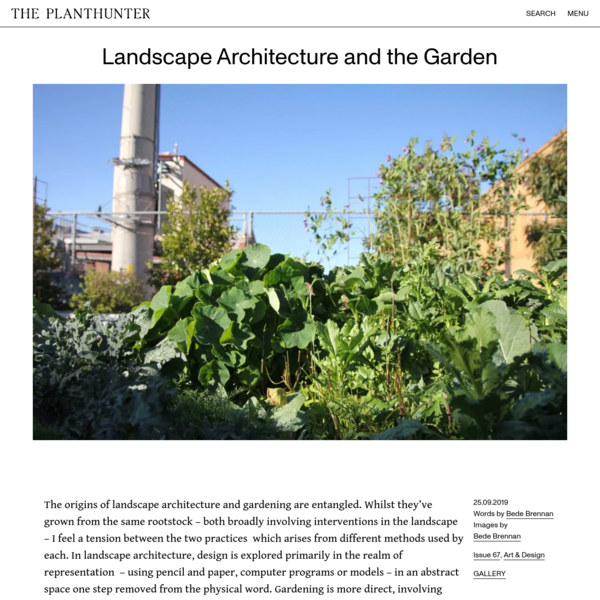 Landscape Architecture and the Garden - The Planthunter