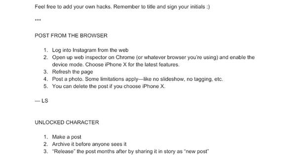 Instagram Hacks :)