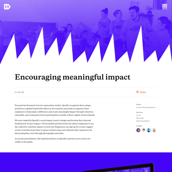 Encouraging meaningful impact