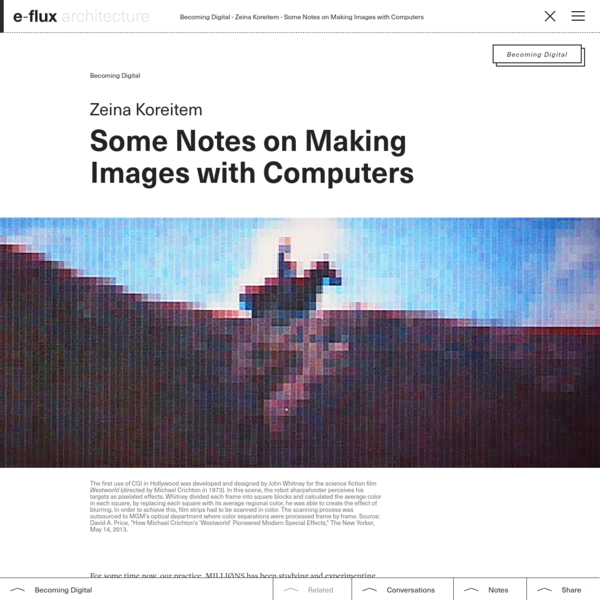 Some Notes on Making Images with Computers